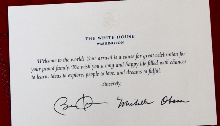 sample white house greeting