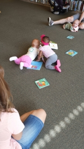 Zoie playing at 6 Months local library
