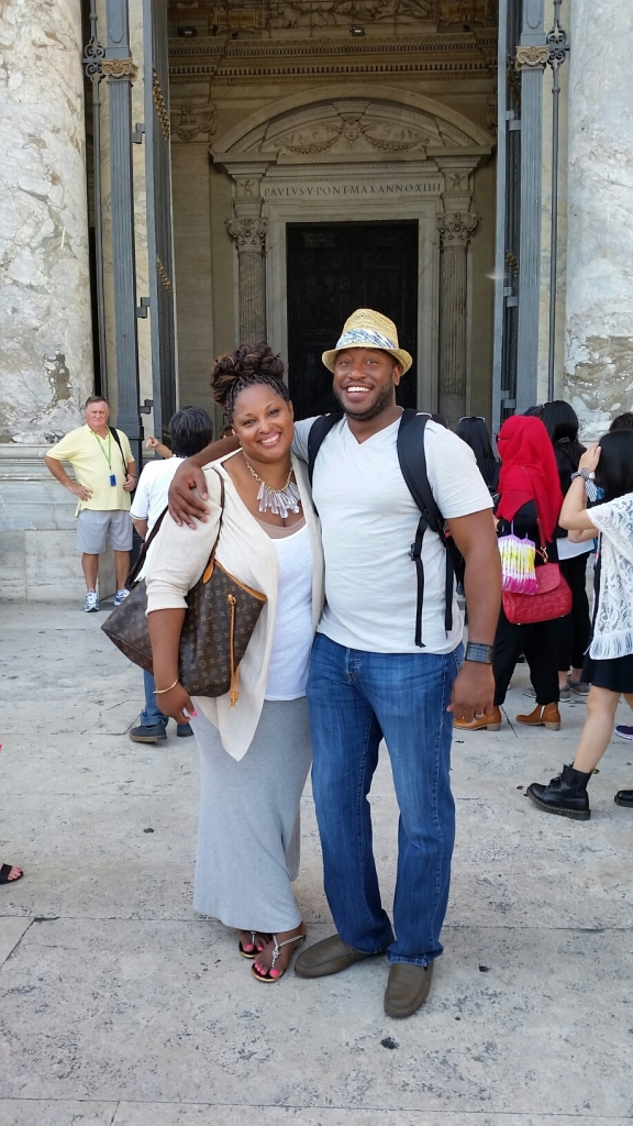 Sheldon and I at the Vatican