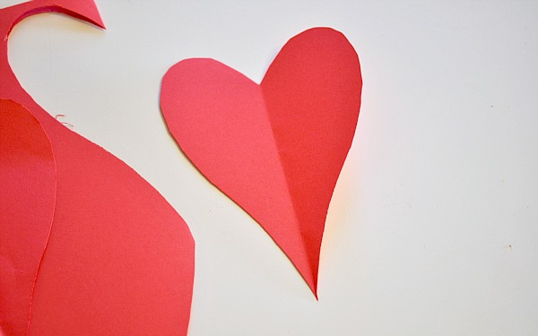 making cut-out hearts